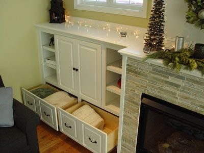 Custom Made Fireplace Cabinets And Entertainment Center