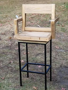 Custom Made Rustic Bar Stool