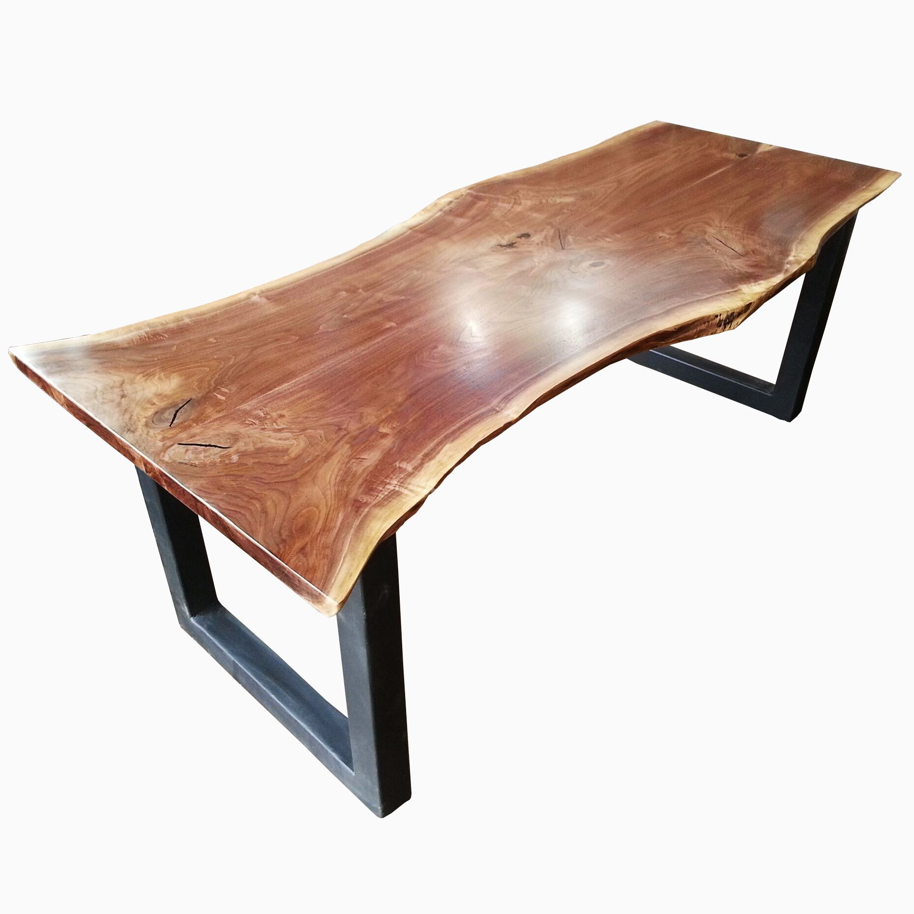Hand Made Natural Live Edge Dining Table Industrial Modern