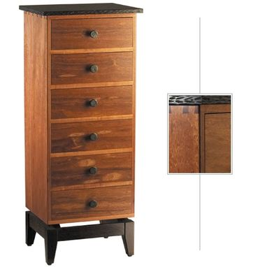 Custom Made Gancolo Alves & Wenge Chest Of Drawers - Narrow