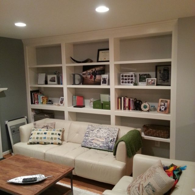 Hand Crafted Built In Bookshelves With Adjule Shelves By Parz Designs Custommade