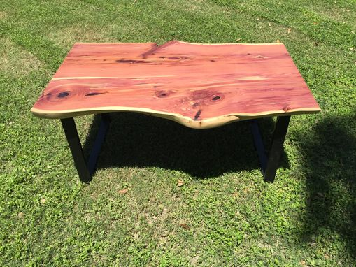 Custom Made Coffee Table,Live Edge,Cedar,Living Room,Office,Reclaimed,Furniture,Wood Working