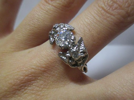 Custom Made Oh Lord, This Elvish Diamond Engagement Ring In 14k White Gold Is Beautiful!