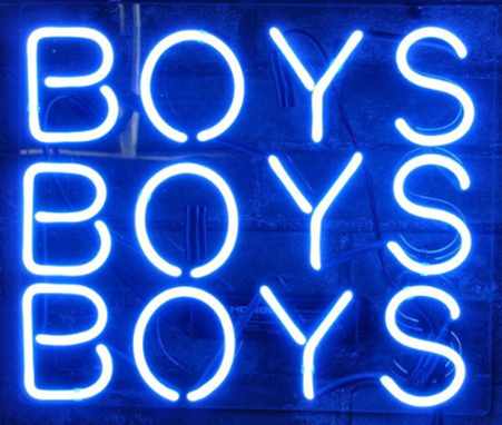 Custom Made Boys Boys Boys Neon Sign