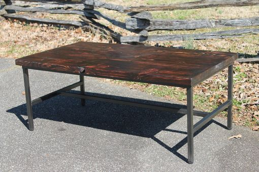 Custom Made Torched Barnwood Coffee Table