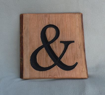 Custom Made Garny - Hand Carved Ampersand From Live Edge Cherry Wood