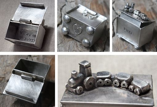 Custom Made Sterling Silver & Fine Silver Treasure Box For Child, Baby, Gift