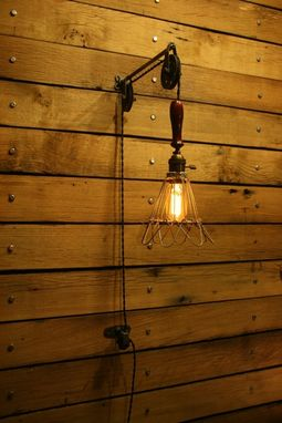 Custom Made Industrial Pulley Light