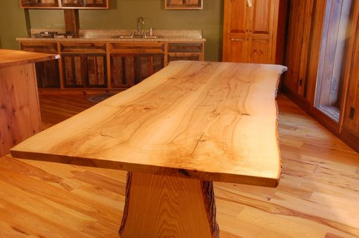 Custom Made Live Edge Ash Slab Dining Table