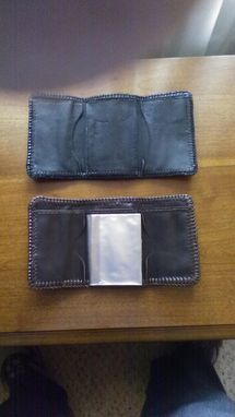 Custom Made Calf Skin Tri-Fold  Wallet
