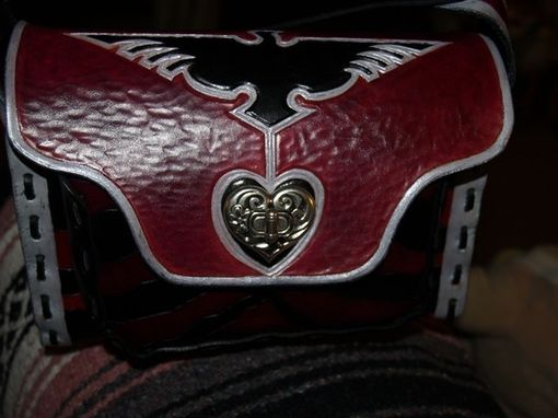 Custom Made Heart & Phoenix Casual Leather Purse