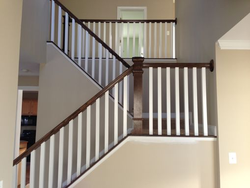 Custom Made Dark Oak Stair Raling & Balusters