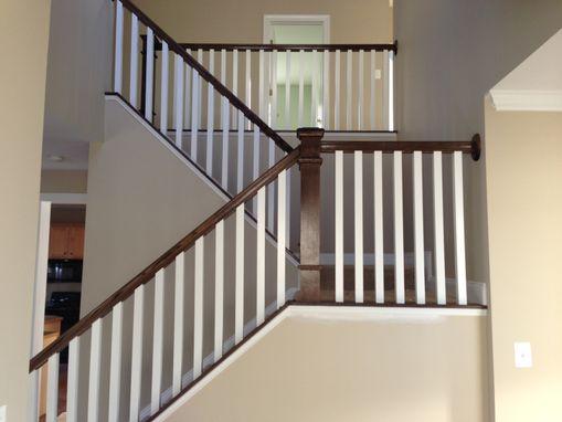 Lighting Basement Washroom Stairs: Hand Made Dark Oak Stair Raling & Balusters By PARZ