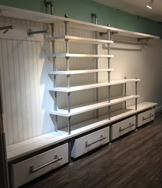 Custom Made Custom Industrial Boutique Shelving Fixture