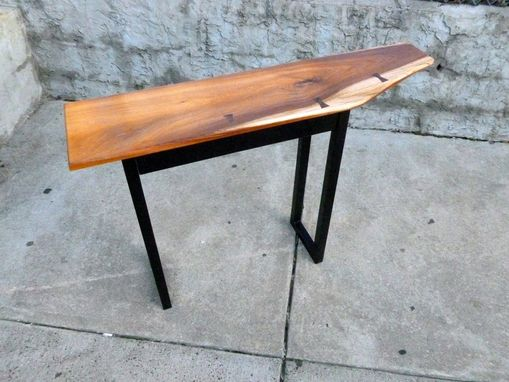 Custom Made Live Edge Entry Console Table