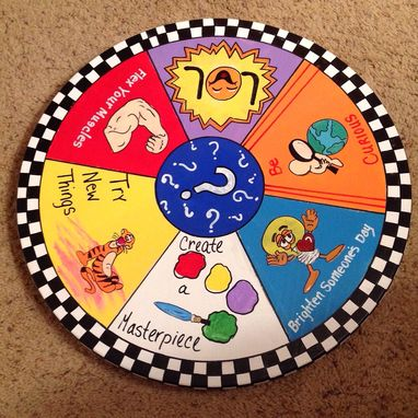 "Custom Made Wood Lazy Susan Painted 15""//Custom Lazy Susan//Wall Art Lazy Susan"