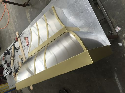 Custom Made #27 Custom Stainless Steel Range Hood With Straps Double Decker