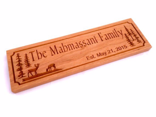 Custom Made Woods Theme Family Established Sign