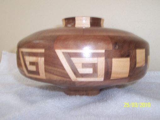 Custom Made Greek Key Enclosed Bowl