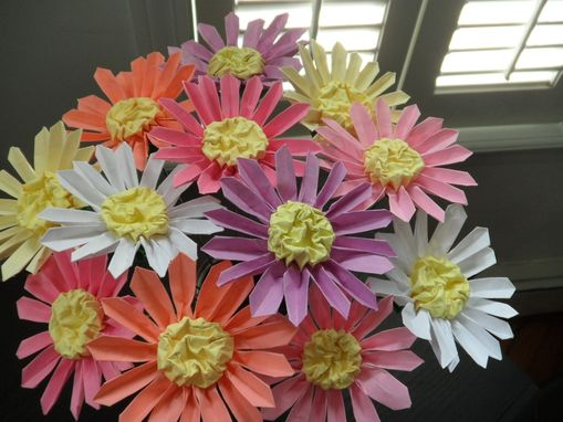 Custom Made Pastel Origami Daisies