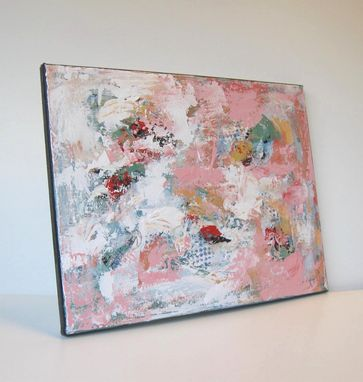 Custom Made Pink Abstract Original Acrylic Painting Original On Canvas