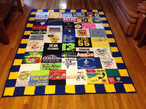 Custom Made Custom Memory Tshirt And Photo Multi Sized Block Quilt