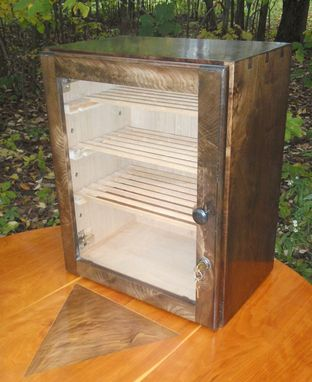 Custom Made Figured Walnut Humidor For True Cigar Enthusiast (With Extras)