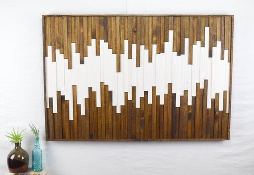 Custom Made The Wave Abstract Wood Artwork
