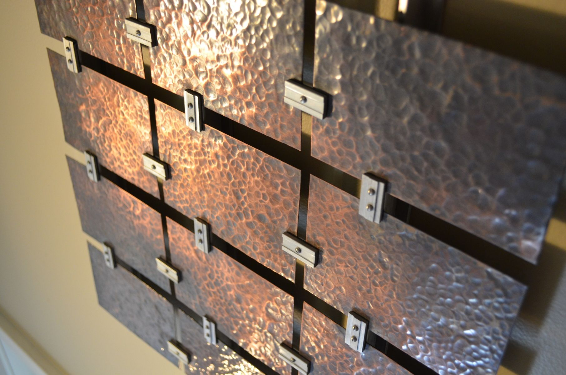 Custom Hammered Copper Wall Art By Fabitecture Custommade Com