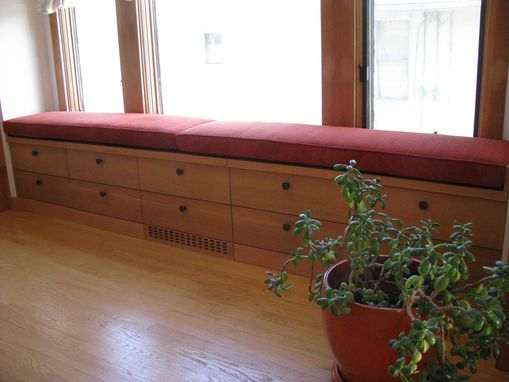 Custom Made Window Seat Storage