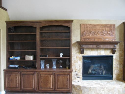 Custom Made Bookcase  Entertainment Center