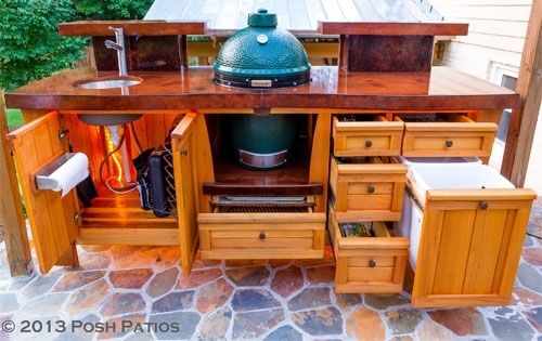 Sweet Southern Class Big Green Egg Table. Hand Made Sweet Southern Class Big Green Egg Table by Big Green