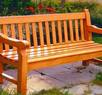Custom Made Custom Made Wood Park Bench