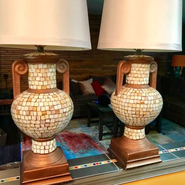 Custom Made Glass Mosaic Lamps