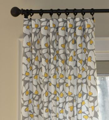 Custom Made 63l X 50w Home Accents Himalaya Ikat Fog Gray Citrine Linen Custom Curtain Panels