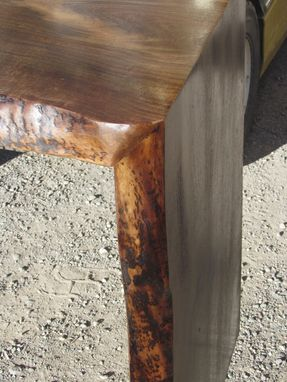 Custom Made Walnut Sofa Table/ Hall Table