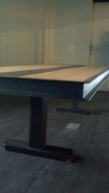 Custom Made Industrial Wood And Steel Converence Table
