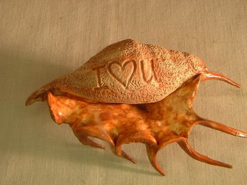 Custom Made Sea Shell Art,I Love You Sea Shell ,Decorated Shell