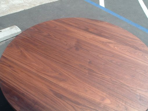 Custom Made Rich's 2 Inch Thick Solid Walnut Tabletop 42 Inch Diameter