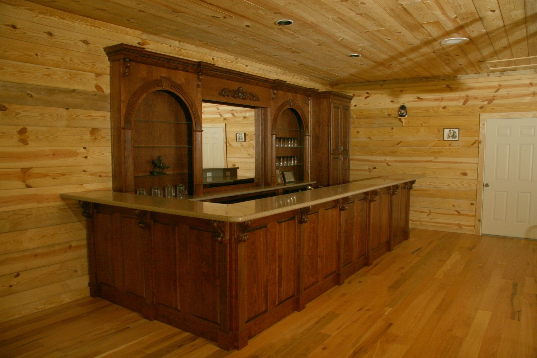 Hand Made Western Bar by Oak Creek Cabinets | CustomMade.com
