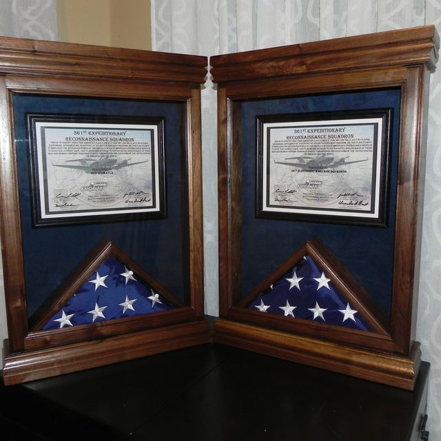 Buy a Custom Flag Case With Certificate Frame, made to order from ...