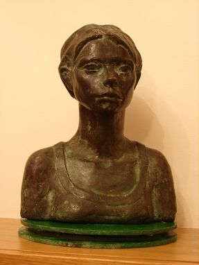 Custom Made Portrait Of Barbara In Bronze.