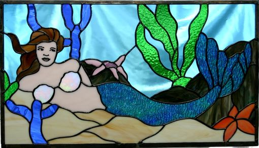 Custom Made Stained Glass Mermaid Window