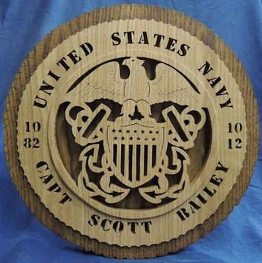 Custom Made 17 Inch U. S. Military Plaques