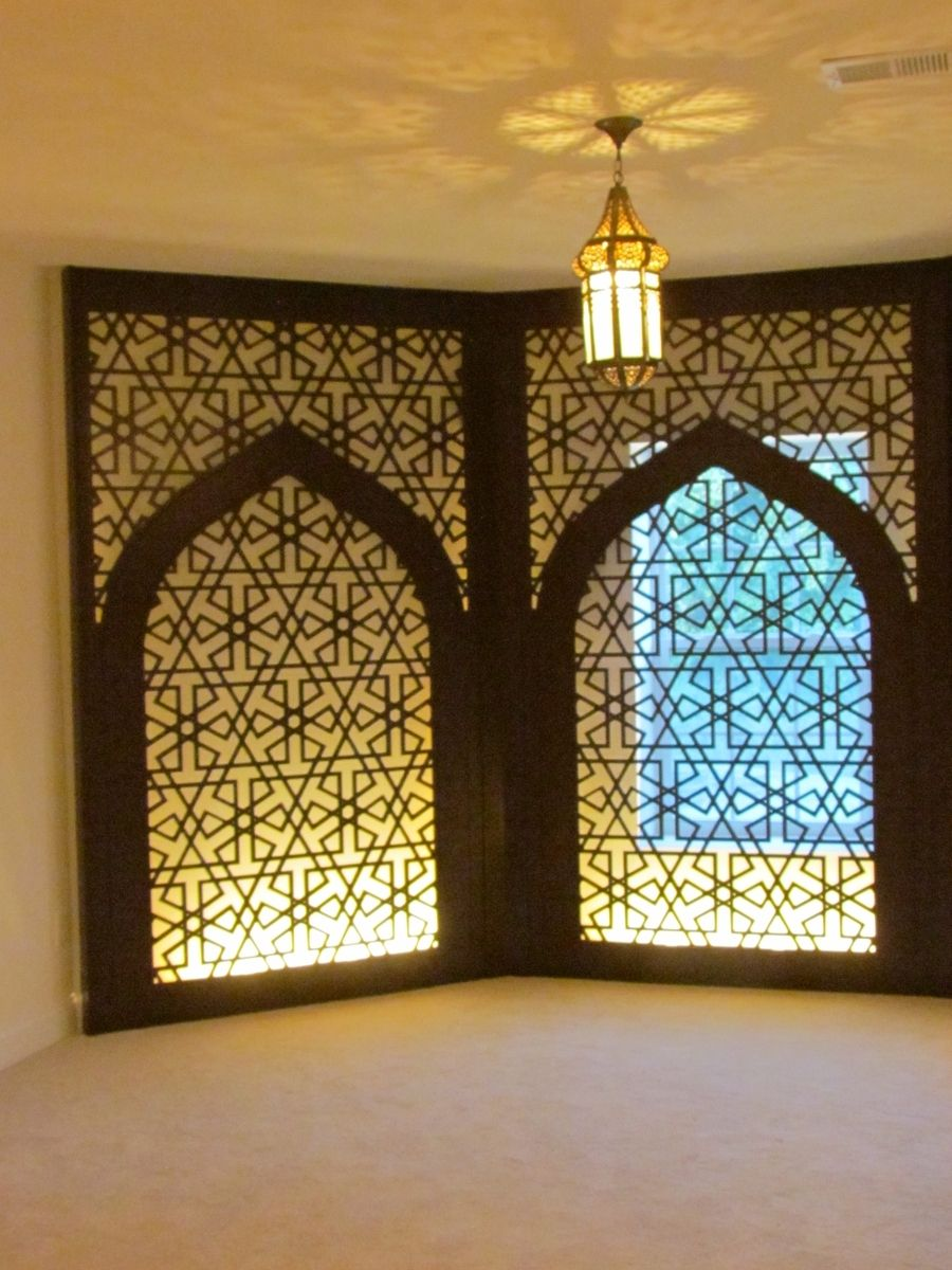 Handmade prayer room decorative wall panels and lighted pillar by custom made prayer room decorative wall panels and lighted pillar aloadofball Gallery
