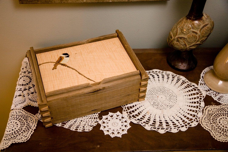 Handmade Reclaimed Barnwood Jewelry Box Hand Cut