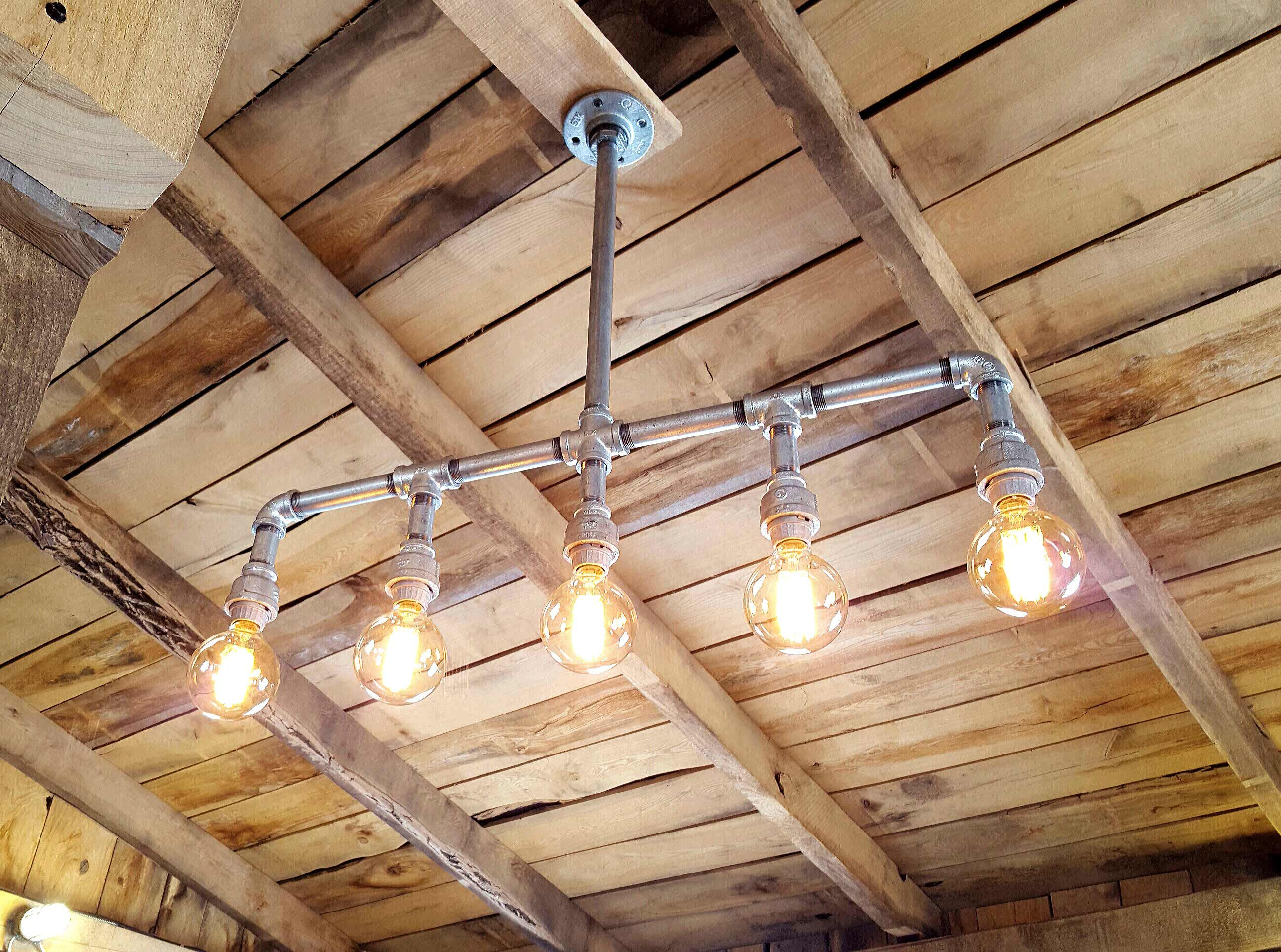 Buy a Hand Crafted Custom Rustic Industrial Chandelier Galvanized
