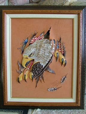 Custom Made Embossed Eagle Picture