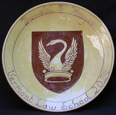 Custom Made Redware Graduation Plate Decorated Using The Sgraffito Technique