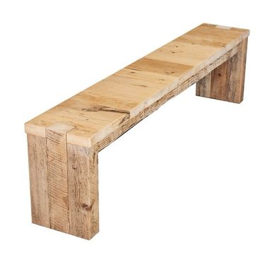 Custom Made Reclaimed Barn Wood Parsons-Style Bench